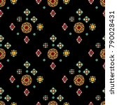 original mosaic drawing tribal... | Shutterstock .eps vector #790028431