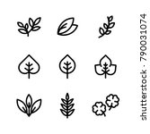 leaf or organic plant icon | Shutterstock .eps vector #790031074