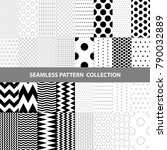 covers with flat geometric... | Shutterstock .eps vector #790032889