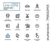 car features   line design... | Shutterstock .eps vector #790032955