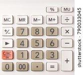 closeup on calculator keypad ... | Shutterstock . vector #790033045