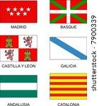 spanish flags   Shutterstock .eps vector #7900339
