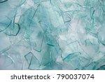 pile of broken glass  white... | Shutterstock . vector #790037074