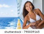 cruise ship caribbean travel... | Shutterstock . vector #790039165
