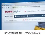 Small photo of LONDON, UK - JANUARY 8TH 2018: The homepage of the official website for Greater Anglia - the train operating company in Great Britain, on 8th January 2018.