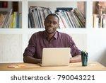 portrait of friendly attractive ... | Shutterstock . vector #790043221