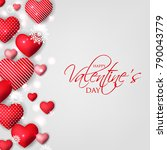 happy valentines day card... | Shutterstock .eps vector #790043779