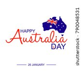happy 26th of january   happy... | Shutterstock .eps vector #790048531