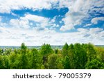 Tree Tops Of  Mixed Forest...