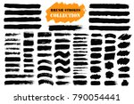 brush strokes text boxes.... | Shutterstock .eps vector #790054441