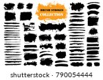 brush strokes text boxes.... | Shutterstock .eps vector #790054444
