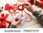 valentines day diy  wedding or... | Shutterstock . vector #790057279