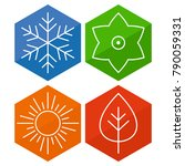 a set of four seasons icons.... | Shutterstock .eps vector #790059331