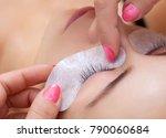 eyelash extension procedure... | Shutterstock . vector #790060684
