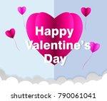love invitation card valentine... | Shutterstock .eps vector #790061041