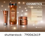 vector cosmetics template with... | Shutterstock .eps vector #790062619