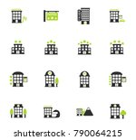 hotel vector icons for web and... | Shutterstock .eps vector #790064215