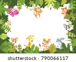 animals banner vector... | Shutterstock .eps vector #790066117