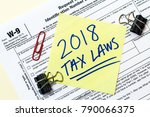 a 2018 federal income tax laws... | Shutterstock . vector #790066375