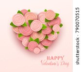 valentine s day background.... | Shutterstock .eps vector #790070515