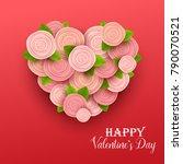 valentine s day background.... | Shutterstock .eps vector #790070521