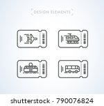 vector transportation tickets... | Shutterstock .eps vector #790076824
