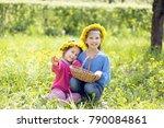 smiling children outdoors... | Shutterstock . vector #790084861