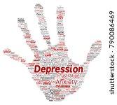 vector conceptual depression or ...   Shutterstock .eps vector #790086469