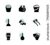 cleaning icons. vector...