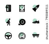 speed icons. vector collection... | Shutterstock .eps vector #790089511