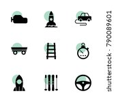 speed icons. vector collection...