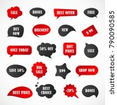vector stickers  price tag ... | Shutterstock .eps vector #790090585