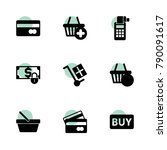 purchase icons. vector...