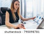 female director working in...   Shutterstock . vector #790098781