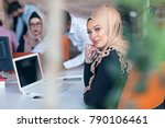 young business people working...   Shutterstock . vector #790106461