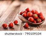 Strawberries In Wooden Bowl....