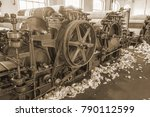 old 1900s woolen mill machinery ... | Shutterstock . vector #790112599
