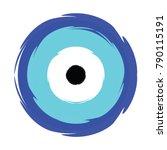 greek blue evil eye vector  ... | Shutterstock .eps vector #790115191