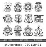 a set of vector illustrations ... | Shutterstock .eps vector #790118431