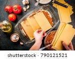 woman cooking homemade classic... | Shutterstock . vector #790121521