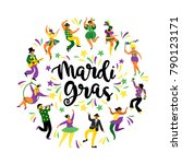 mardi gras. vector illustration ... | Shutterstock .eps vector #790123171