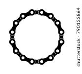 Bicycle Chain Circle On A White ...