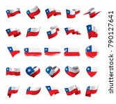 chile flag  vector illustration | Shutterstock .eps vector #790127641