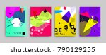 covers templates set with... | Shutterstock .eps vector #790129255