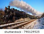 steam locomotive  historic... | Shutterstock . vector #790129525