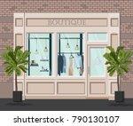 graphic vector facade vintage... | Shutterstock .eps vector #790130107