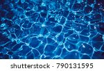 abstract blue waves background. ... | Shutterstock . vector #790131595