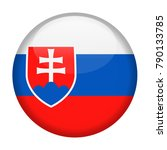 slovakia flag vector round icon ... | Shutterstock .eps vector #790133785