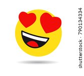 smile in love emoticon icon ... | Shutterstock .eps vector #790134334