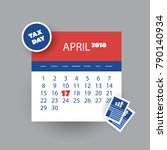 tax day reminder concept  ... | Shutterstock .eps vector #790140934